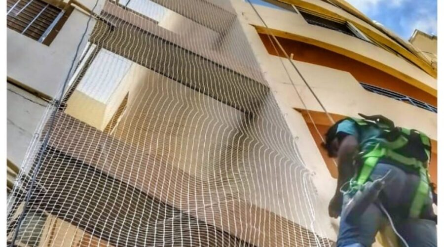 Duct Area Safety Nets, Call 9742262247 For Net Fixing
